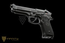 KJ Works Full Metal M9 - Black (Full Metal Version with Markings)